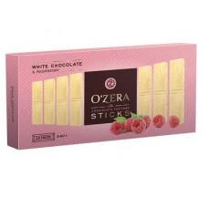 «OZera», белый шоколад с кусочками малины, в форме стиков, 240 гр.