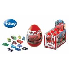 DISNEY ТАЧКИ Драже в пластиковом яйце с игрушкой. Блок 12 шт. Вес 5 гр.