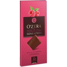 «OZera», шоколад молочный с кусочками малины Milk & Raspberry, 100 гр. Яшкино