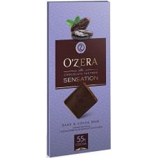 «OZera», шоколад горький с кусочками какао-бобов Dark & Cocoa bean, 100 гр.