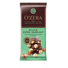 «OZera», шоколад молочный с цельным фундуком Milk & Extra Hazelnut, 90 гр.
