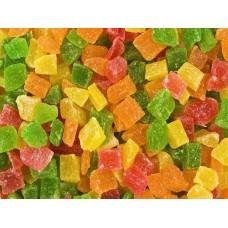 Ананас цукаты кубики микс (Тайланд)  Вес 1 кг.