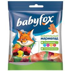 «BabyFox», мармелад жевательный с соком ягод и фруктов, 30 гр.