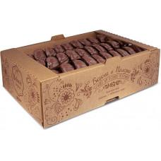 Зефир ванильный глазированный (коробка 1 кг) Яшкино